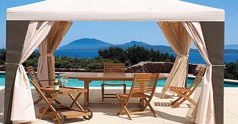Ombrelloni e gazebi lamacchia mobili da giardino riccione for Occasioni mobili da giardino