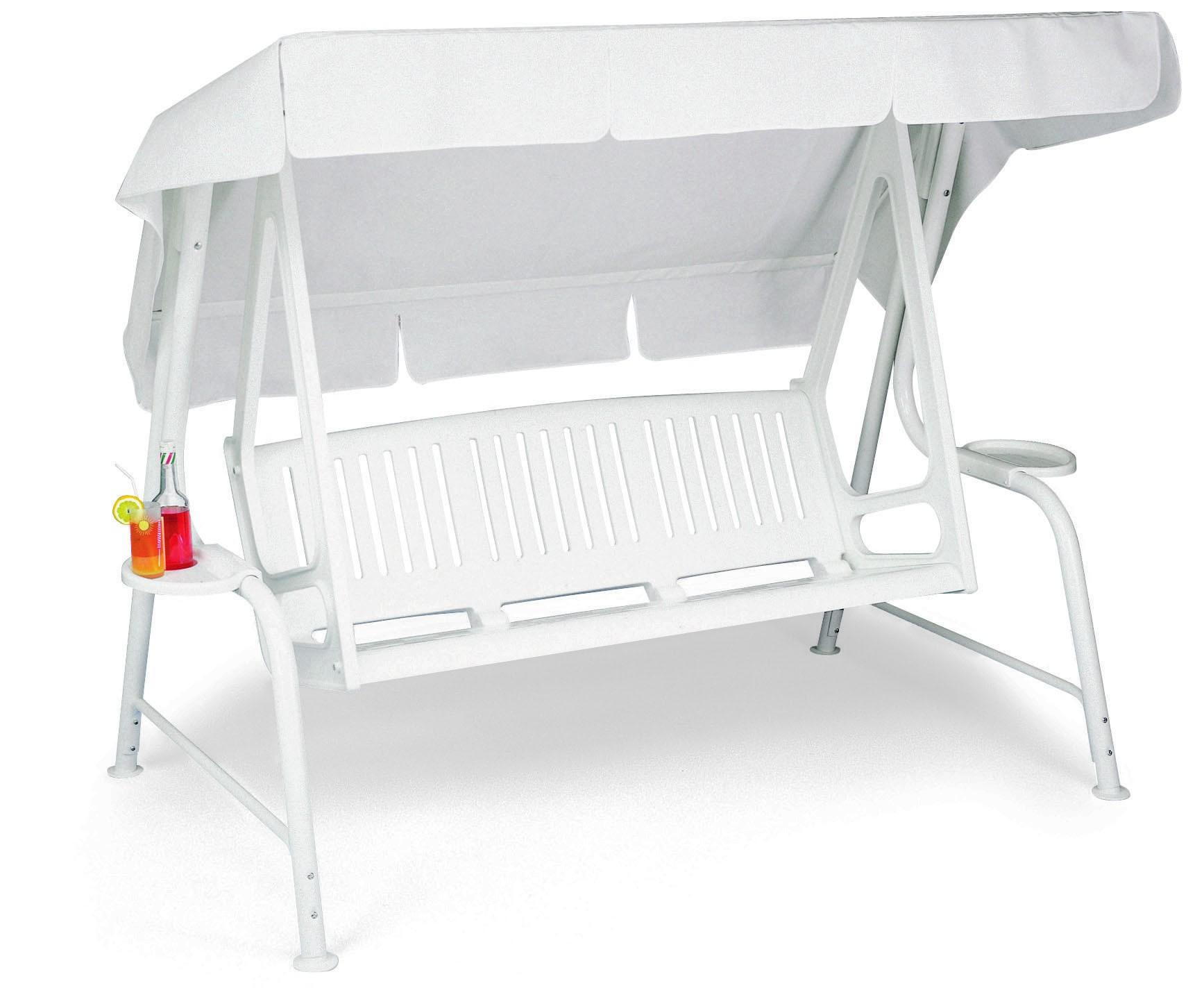 Dondolo lord 3p misto resina lamacchia mobili da giardino for Mobili da giardino in resina