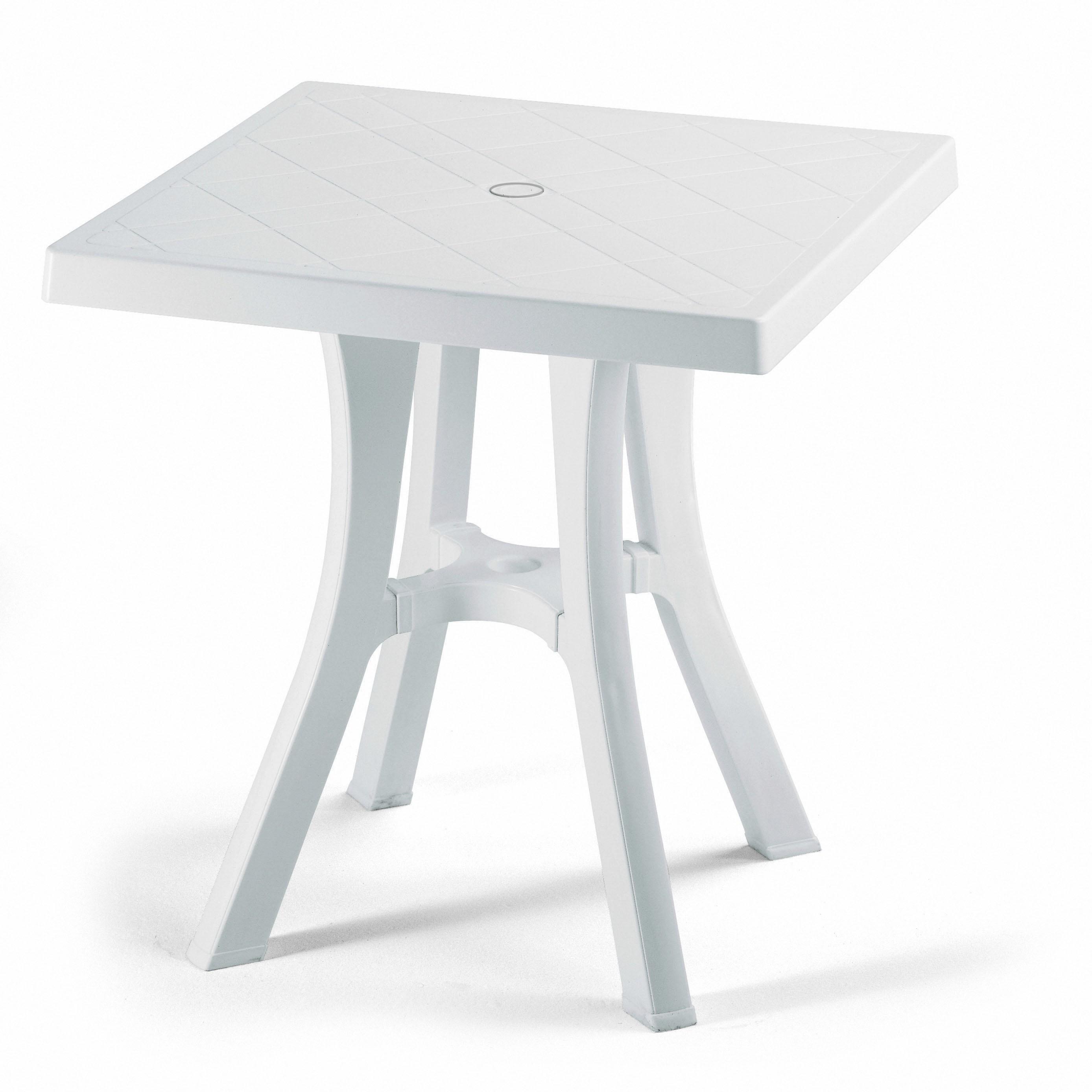 Tavolo resina daddy contract 70x70 lamacchia mobili da for Mobili da giardino in resina