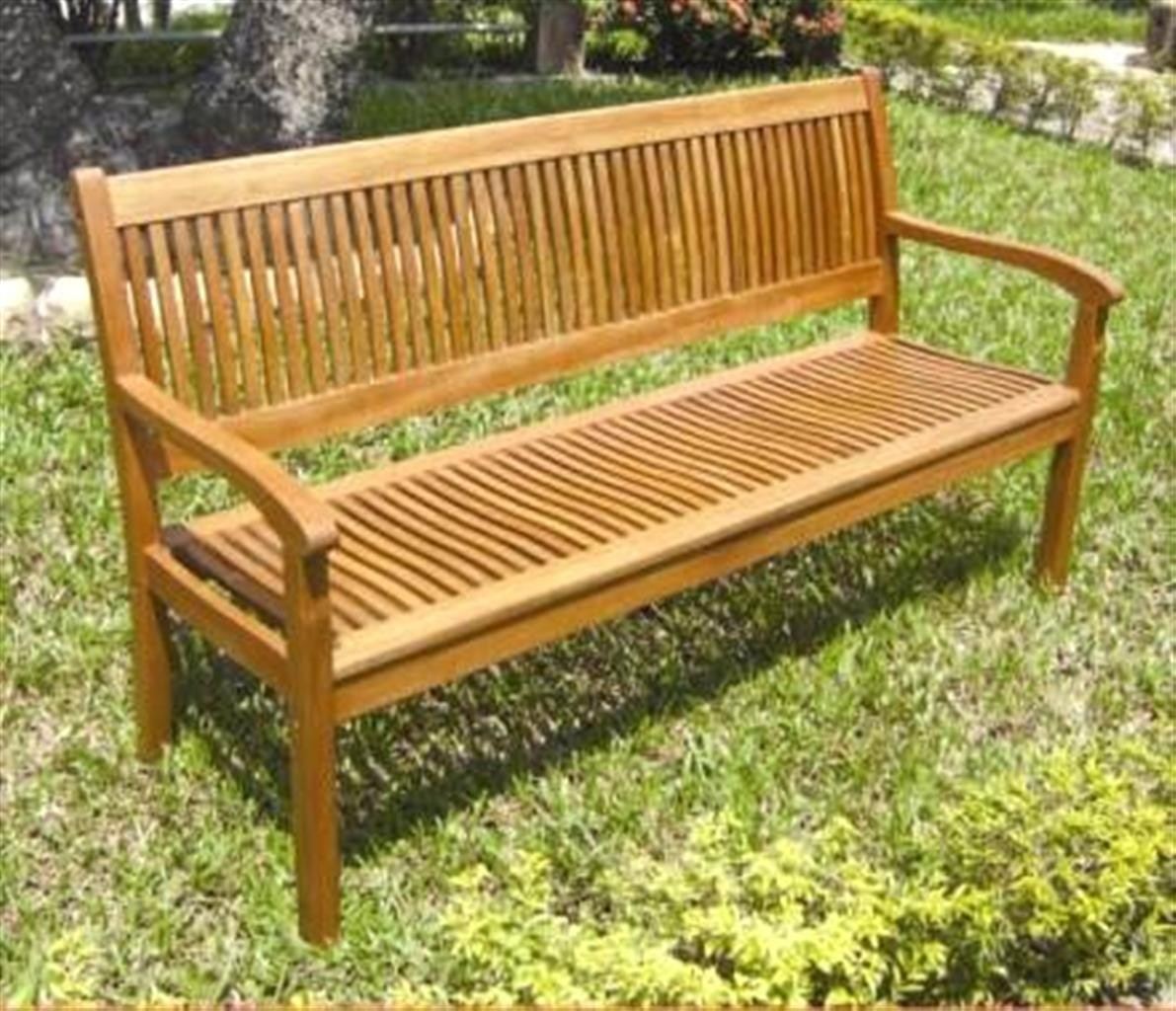 Panchina legno balau 3 posti lamacchia mobili da giardino riccione - Panchine da giardino ikea ...