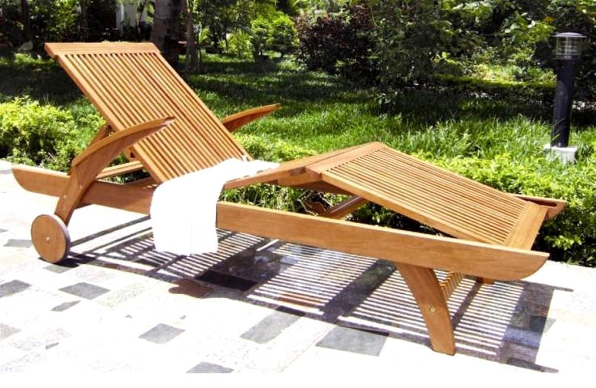 Lettino legno balau lamacchia mobili da giardino riccione for Sdraio da giardino