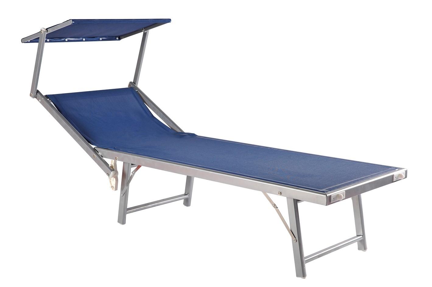 Lettino mare alluminio con tettino amalfi lamacchia mobili - Lettino da campeggio ikea ...
