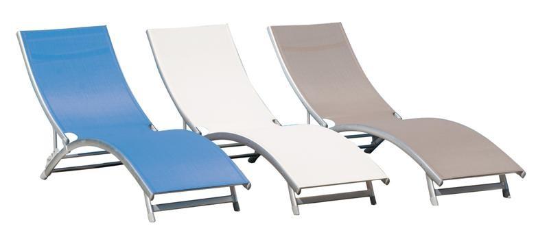 Lettino onda alluminio lettini brandine lamacchia mobili da giardino riccione - Lettino piscina alluminio ...