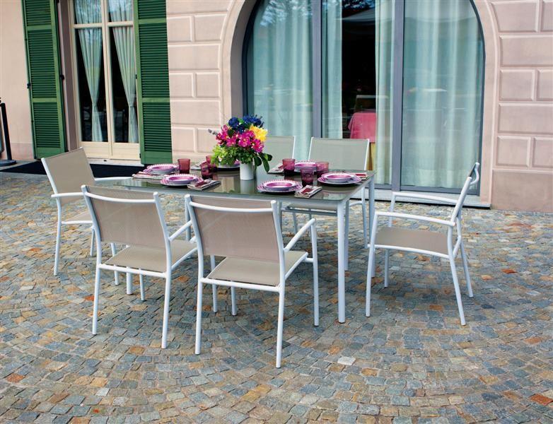 Set alluminio talomone set completi lamacchia mobili da for Completi da giardino