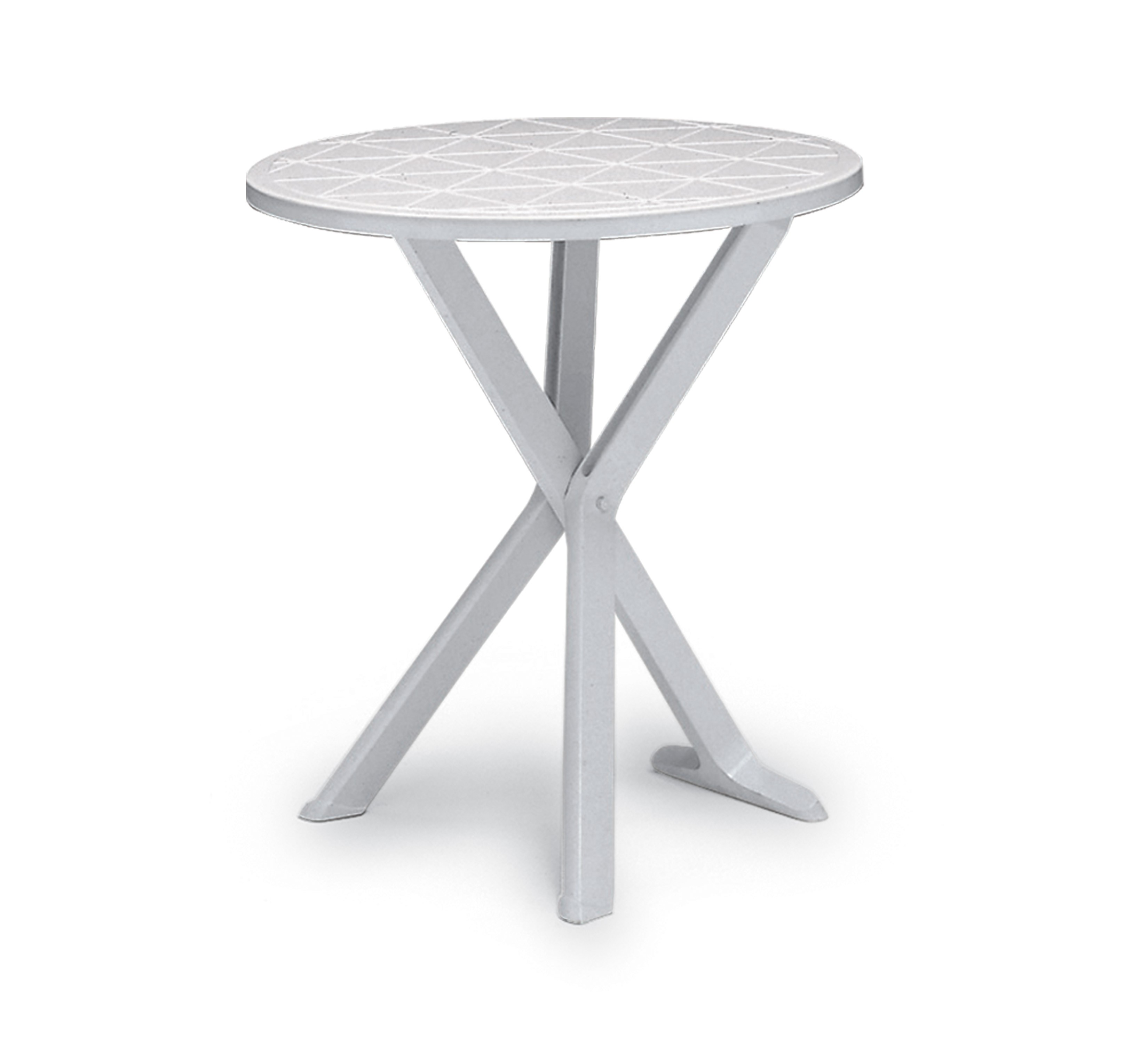 Tavolo resina brio tondo 65 lamacchia mobili da giardino for Tavolo tondo bianco