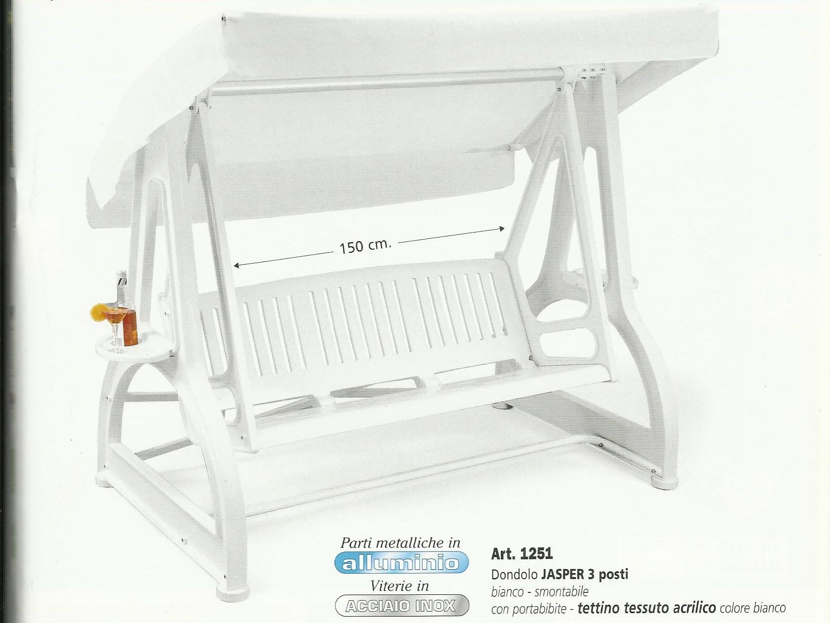 Dondolo in resina jasper scab lamacchia mobili da giardino for Mobili da giardino resina