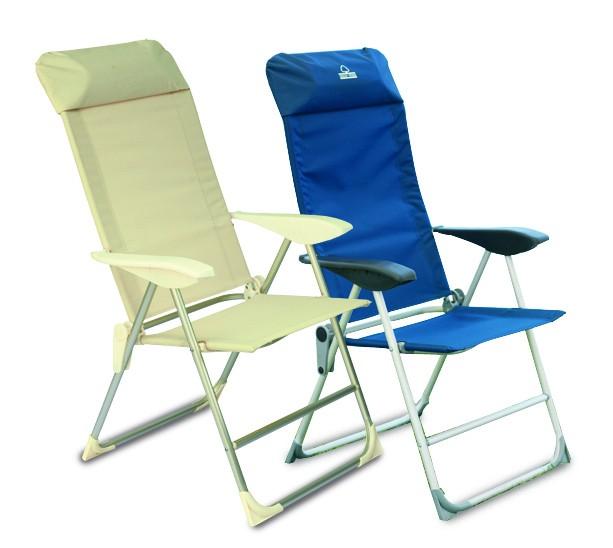 Sedia A Sdraio Alluminio.Poltrona Sdraio 5 Posizioni Alluminio Lamacchia Mobili Da Giardino