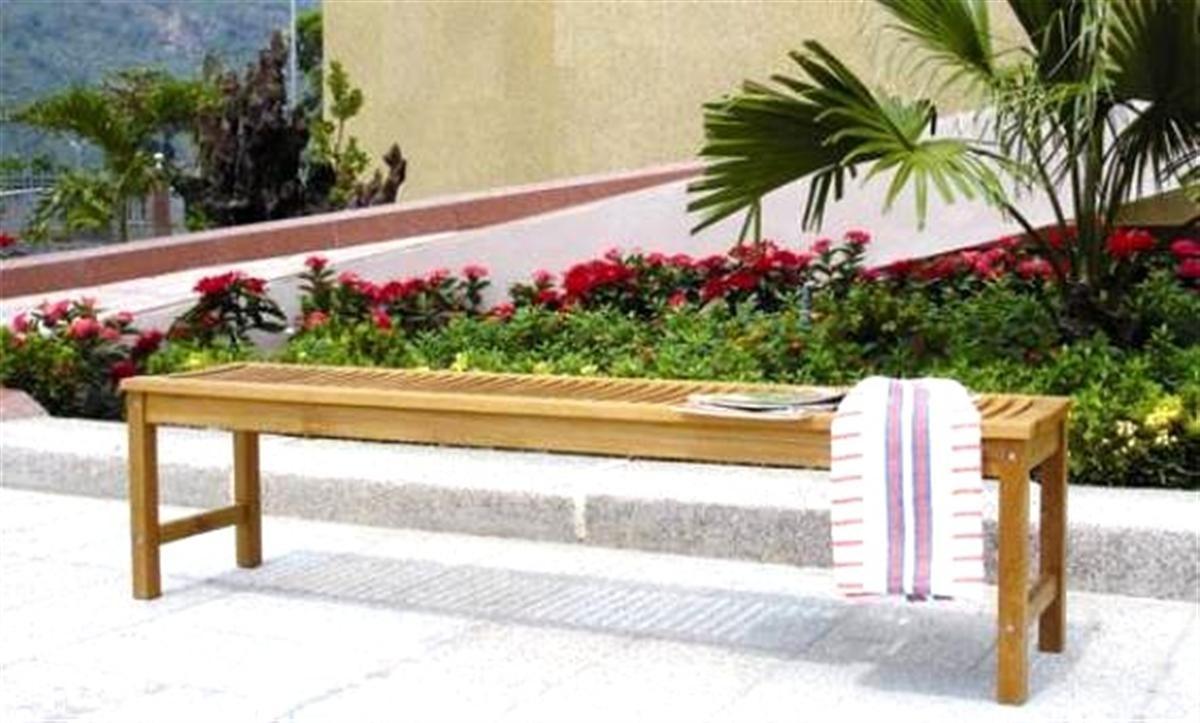 Panca teak birmano lamacchia mobili da giardino riccione - Mobili da giardino in teak ...